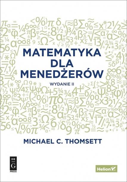 Matematyka dla menedżerów - Thomsett Michael C. | okładka