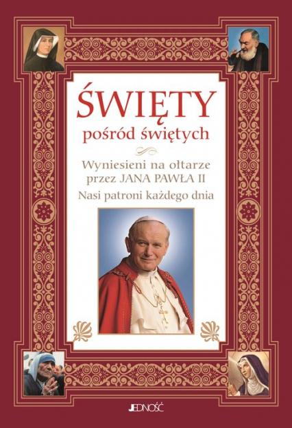 Święty pośród świętych Wyniesieni na ołtarze przez Jana Pawła II Nasi patroni każdego dnia - Hubert Wołącewicz   okładka