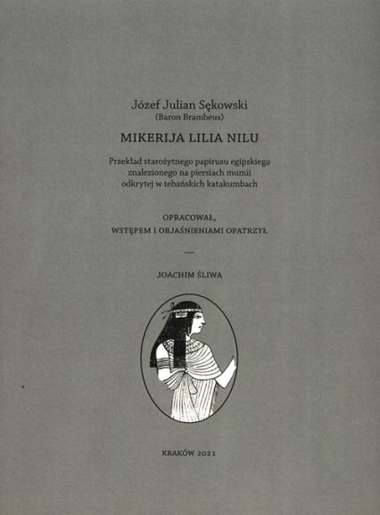 Mikerija Lilia Nilu - Sękowski Józef Julian | okładka