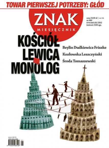 Miesięcznik Znak, numer 680 (styczeń 2012) -  | okładka