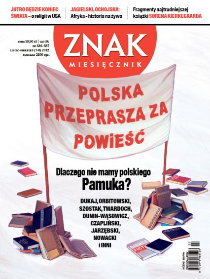 Miesięcznik Znak, numer 686-687 (lipiec-sierpień 2012) -  | okładka