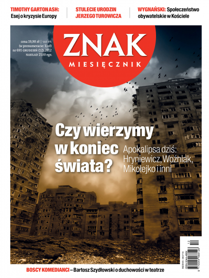 ZNAK 691 12/2012: Czy wierzymy w koniec świata? -  | okładka