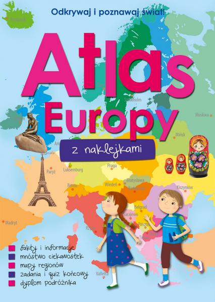 Atlas Europy z naklejkami  -  Opracowanie Zbiorowe   okładka