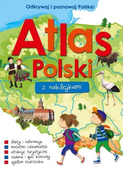 Atlas Polski z naklejkami  -  Opracowanie Zbiorowe | okładka