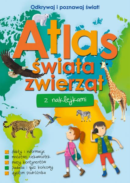 Atlas świata zwierząt z naklejkami  -  | okładka