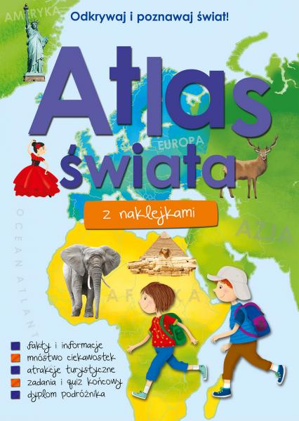 Atlas świata z naklejkami  -  Opracowanie Zbiorowe | okładka