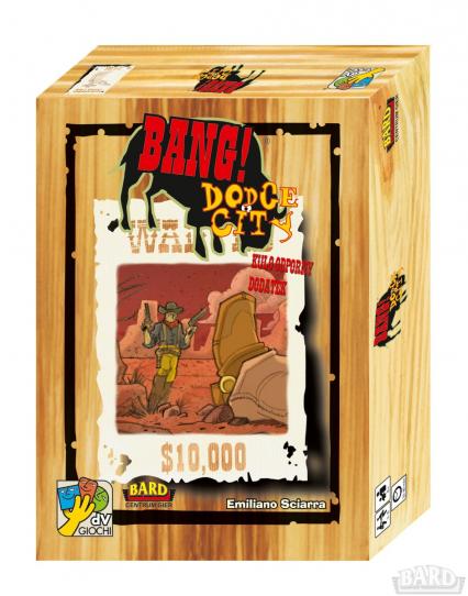 BANG! Dodge City - rozszerzenie do gry BANG! - Emiliano Sciarra  | okładka