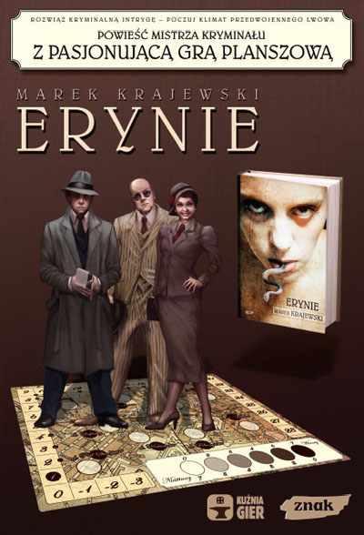 Erynie (z grą) - Marek Krajewski  | okładka
