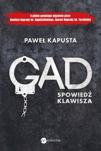 Gad Spowiedź klawisza - Paweł Kapusta   okładka