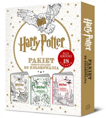 Harry Potter. Pakiet trzech książek do kolorowania - Opracowanie zbiorowe | okładka