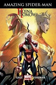 Marvel Now 2.0. II wojna domowa – Amazing Spider-Man - Christos Gage; Travel Foreman | okładka
