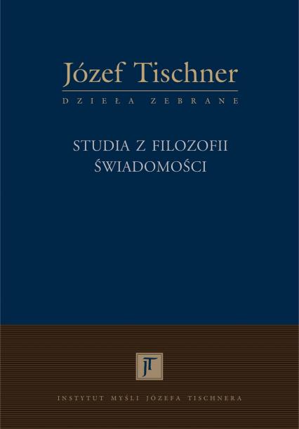 Studia z filozofii świadomości - ks. Józef Tischner    okładka