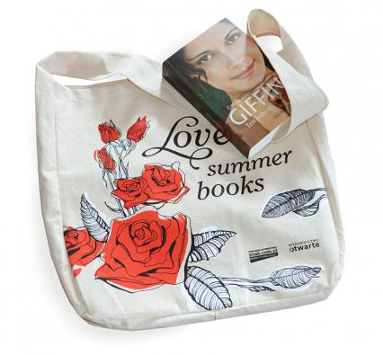 "Torba bawełniania ""Love Summer Books"" -  | okładka"