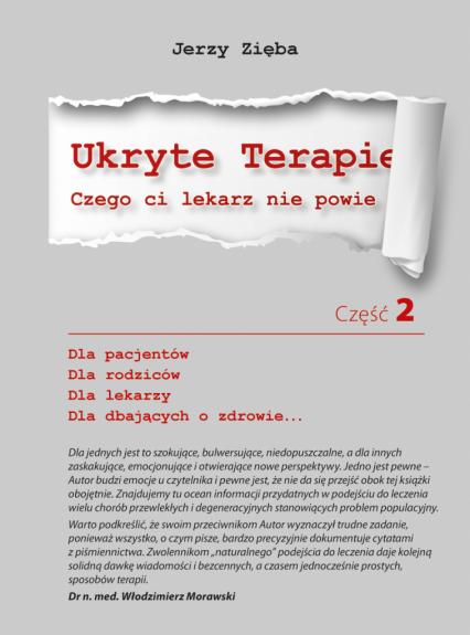 Ukryte terapie, część 2. Czego ci lekarz nie powie - Jerzy Zięba | okładka