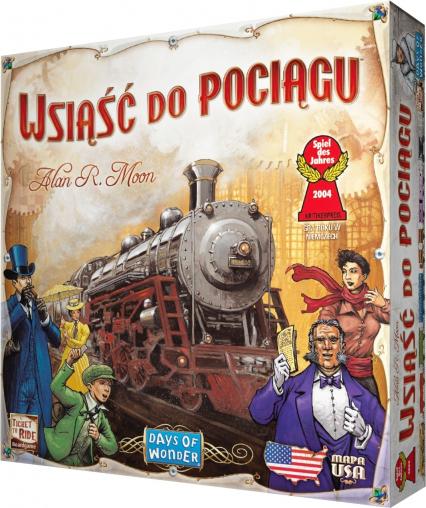 Wsiąść do Pociągu: USA - gra planszowa -  | okładka