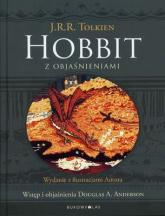 Hobbit z objaśnieniami. Wydanie z ilustracjami Autora - J.R.R. Tolkien | mała okładka