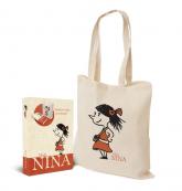 Mała Nina Książka + torba w pudełku - Sophie Scherrer | mała okładka