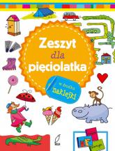 Zeszyt mądrego malucha Zeszyt dla pięciolatka -  | mała okładka