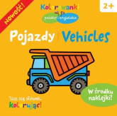Pojazdy. Kolorowanki polsko-angielskie z naklejkami - Krystyna Bardos | mała okładka