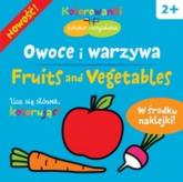 Owoce i warzywa. Kolorowanki polsko-angielskie z naklejkami - Krystyna Bardos | mała okładka