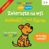 Zwierzęta na wsi.  Kolorowanki polsko-angielskie z naklejkami - Krystyna Bardos | mała okładka