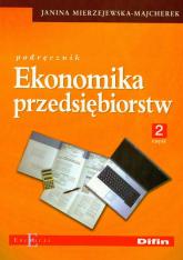 Ekonomika przedsiębiorstw Podręcznik część 2 -    mała okładka