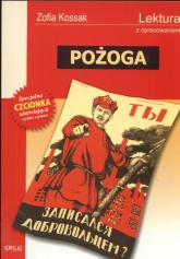 Pożoga Lektura z opracowaniem - Zofia Kossak   mała okładka