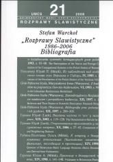 Rozprawy slawistyczne nr 21 1986-06 Bibliografia - Stefan Warchoł | mała okładka
