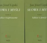 Słowa i myśli Tom 1-2 Pakiet - Lipski Jan Józef | mała okładka