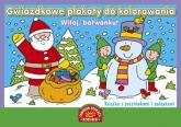 Gwiazdkowe plakaty do kolorowania Witaj bałwanku Książka z pocztówkami i nalepkami -  | mała okładka