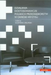 Działania dostosowawcze polskich przedsiębiorstw w okresie kryzysu - zbiorowa Praca | mała okładka