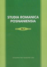 Studia Romanica Posnanesia XL/1 -  | mała okładka