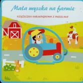 Mała myszka na farmie Książeczka harmonijka z puzzlami -  | mała okładka