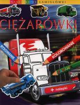 Ciężarówki Naklejkowe łamigłówki - Emilie Beaumont | mała okładka
