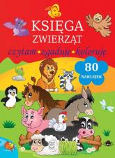 Księga zwierząt Czytam, zgaduję, koloruję - Natalia Kawałko   mała okładka