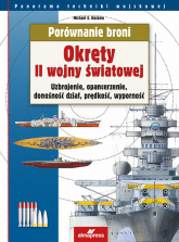 Porównanie broni Okręty II wojny światowej Uzbrojenie, opancerzenie, donośność dział, prędkość, wyporność - Haskew Michael E. | mała okładka