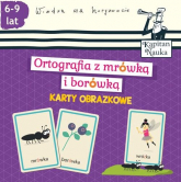Karty obrazkowe Ortografia z mrówką i borówką 6-9 lat - Bożena Dybowska | mała okładka
