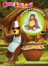 Masza i Niedźwiedź Bądź zdrów! Smacznego! Kolekcja z prezentem Zabawka z magnesem -  | mała okładka