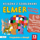 Elmer Przyjaciele z dżunglii Książka z szablonami - David McKee | mała okładka