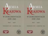 Armia Krajowa w dokumentach 1939-1945 Tom 1 część 1 i 2 -    mała okładka
