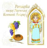 Pamiątka mojej  Pierwszej Komunii Świętej z aniołkiem -  | mała okładka