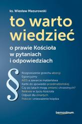 To warto wiedzieć o prawie Kościoła w pytaniach i odpowiedziach - Wiesław Mazurowski | mała okładka