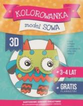 Kolorowanka 3D: Sowa - zbiorowa Praca | mała okładka