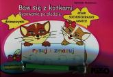 Baw się z kotkami Rysowanie po śladzie - Agneiszka Paszkiewicz | mała okładka