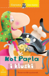 Czytamy bez mamy Kot Papla i kluski - Joanna Krzyżanek | mała okładka