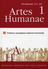 Artes Humanae 1/2016 Problemy i perspektywy badawcze humanistyki -  | mała okładka