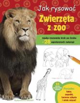 Jak rysować Zwierzęta z zoo - Robin Cuddy | mała okładka