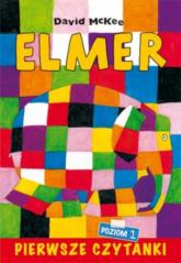 Pierwsze czytanki Elmer słoń w kratkę poziom 1 - Maria Szarf | mała okładka