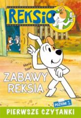Pierwsze czytanki Zabawy Reksia poziom 1 - Maria Szarf | mała okładka