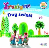 Kreatywne zabawy z bajką Trzy świnki Zestaw do zabawy plasteliną - zbiorowa Praca | mała okładka